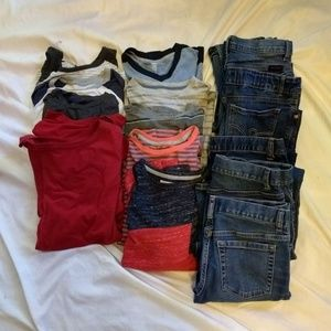 LOT of Big Boys Clothing/Tops and Jeans/ L,XL, 14